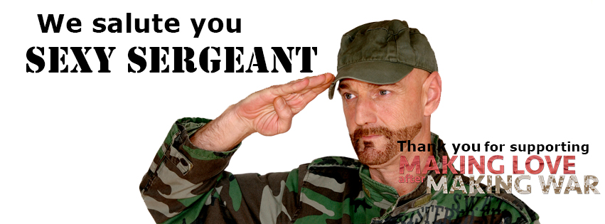Sexy Sergeant Facebook image of a sexy soldier saluting you