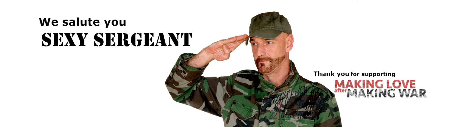Sexy Sergeant Twitter image of a sexy soldier saluting you