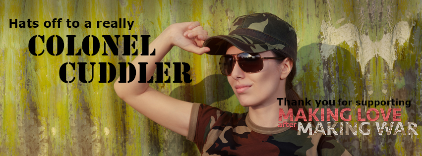 Colonel Cuddler Facebook cover image of female soldier smiling at your profile pic