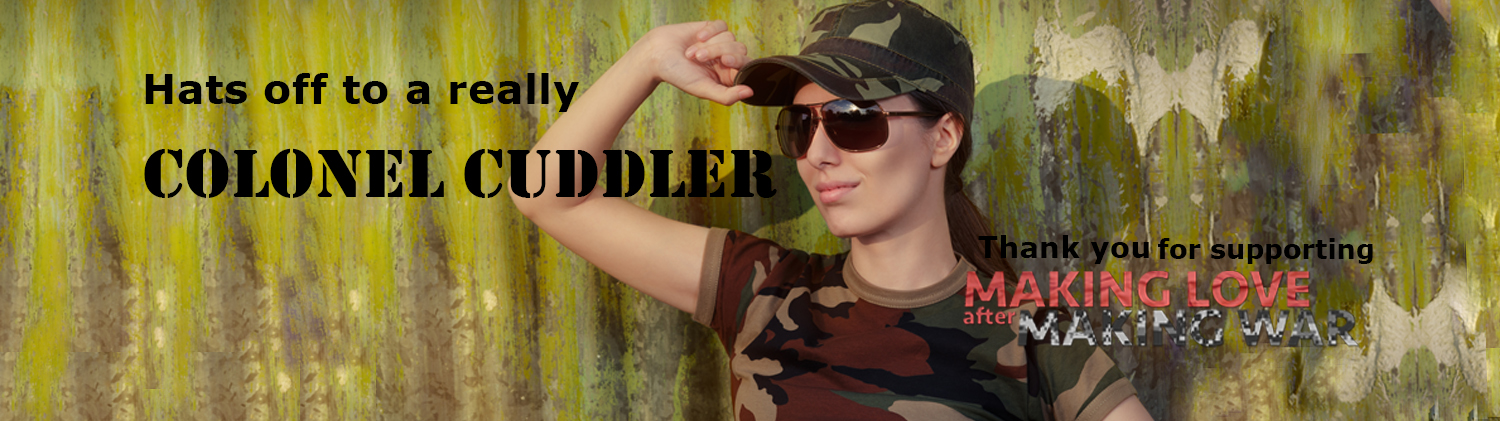 Colonel Cuddler Twitter cover image of female soldier smiling at your profile pic