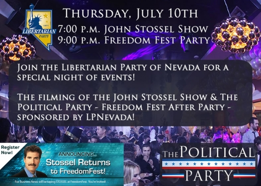 The Libertarian Party of Nevada, The Political Party & Freedom Fest Team Up to Offer a Special Night!