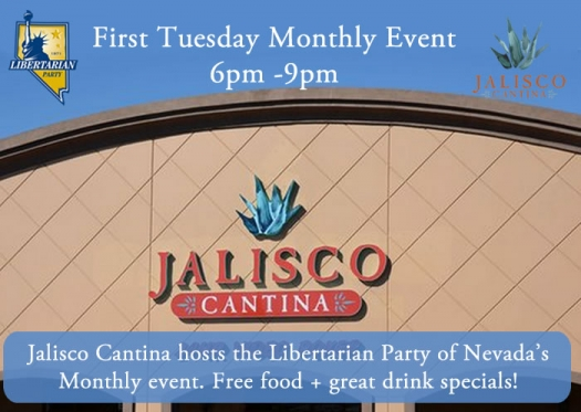 1st Tuesday Monthly Event at Jalisco Mexican Cantina - Sunset Location