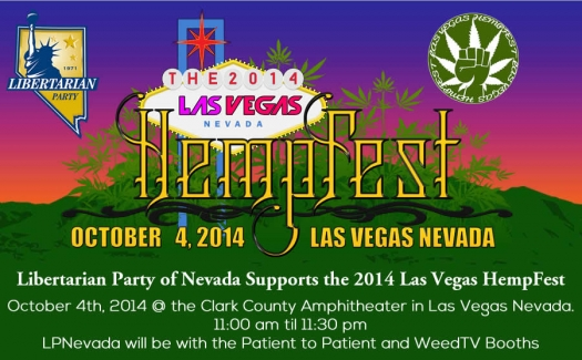 Visit the Libertarian Party of Nevada at Las Vegas Hemp Fest!
