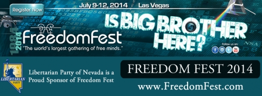 The Libertarian Party of Nevada Supporting FreedomFest 2014!