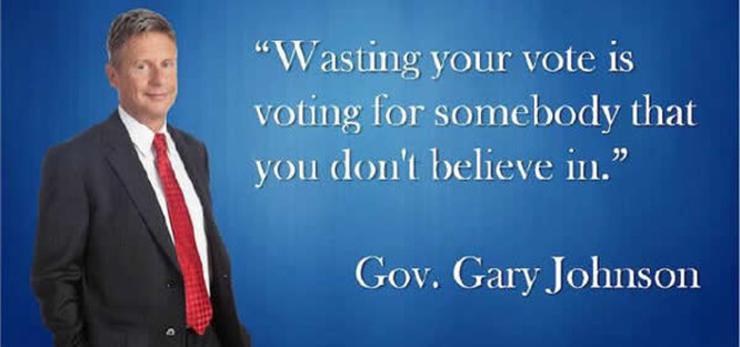 Gary Johnson your vote counts