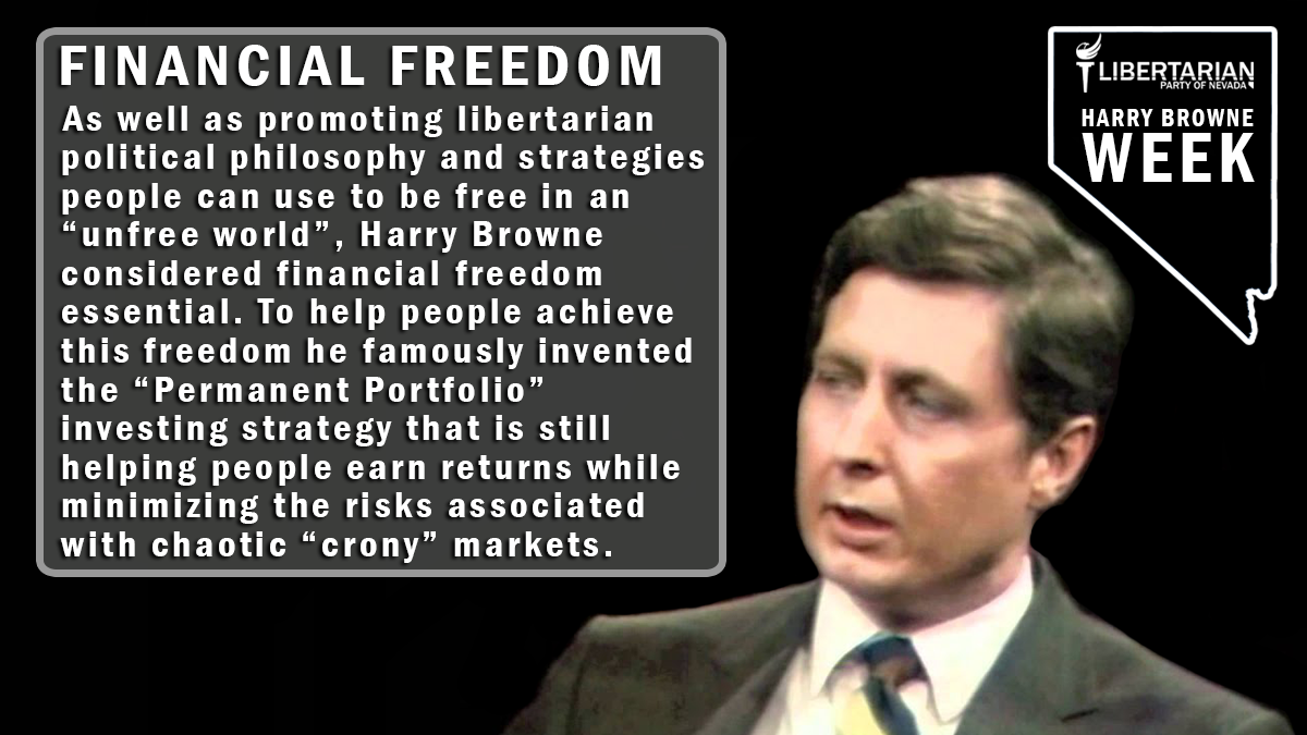 Harry Browne Week Day 3
