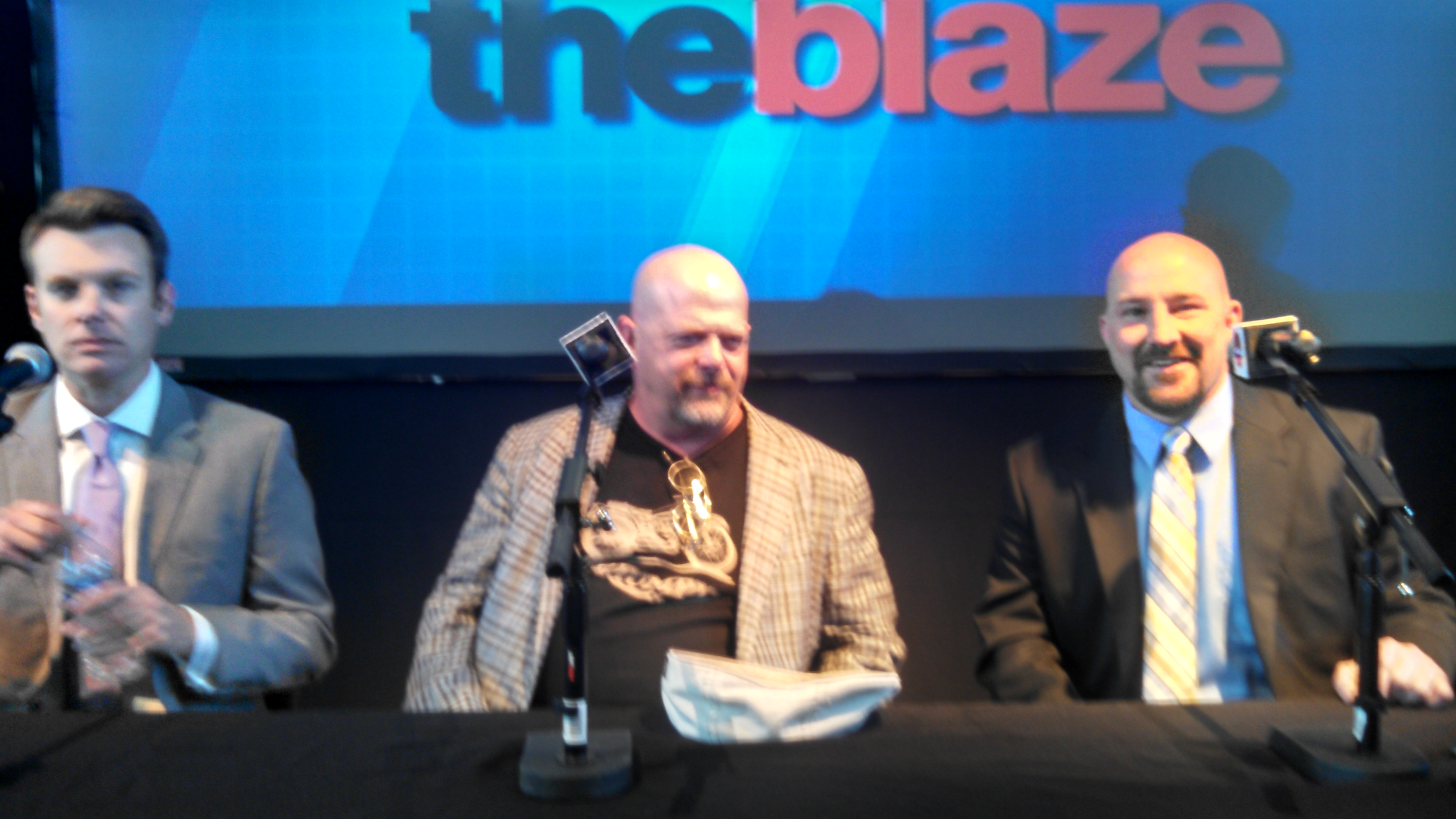 Pawn Stars' Rick Harrison on the post-debate discussion panel. Photo by Zach Foster