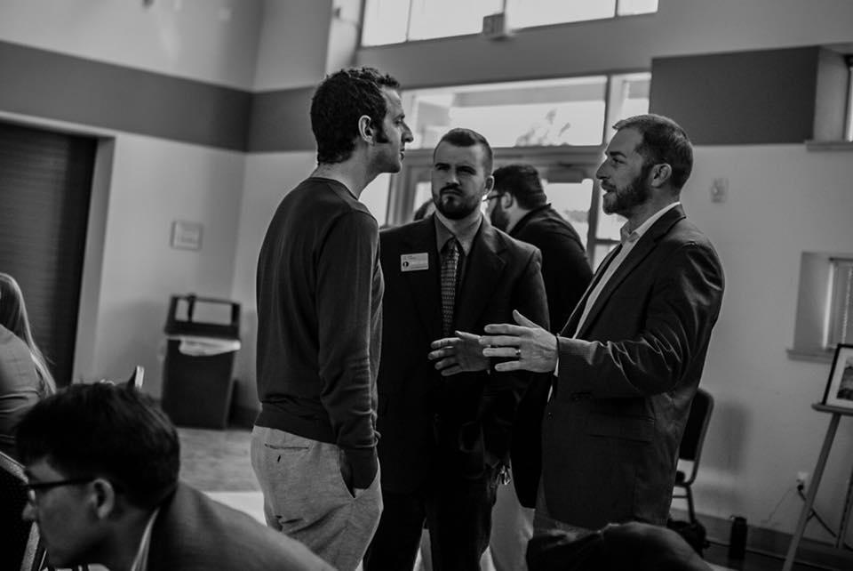 Judd Weiss, Zach Foster, and Adam Kokesh. Photo by Yaakov Merkel.