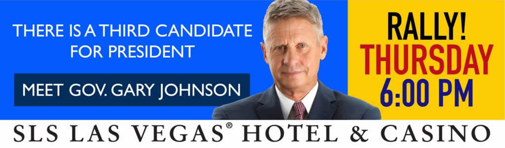 Governor Gary Johnson Rally Las Vegas