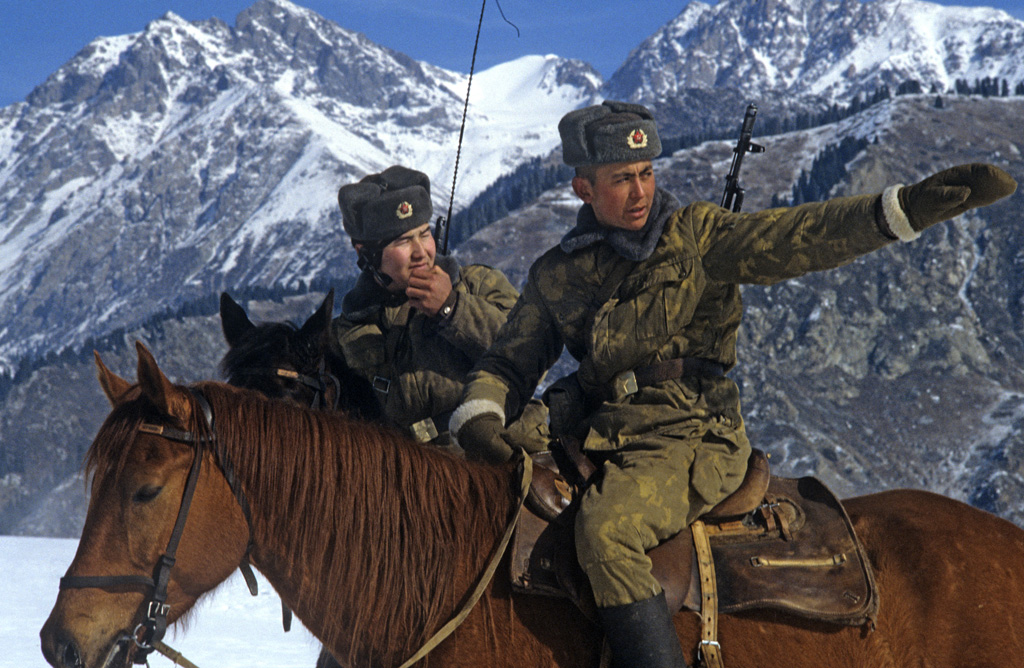 KGB Border Guards on horseback