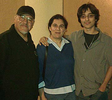 Luis Rodriguez, grandson Ricardo, and Ricardo's mother Jennifer in Fort Lauderdale, Florida, 2012.