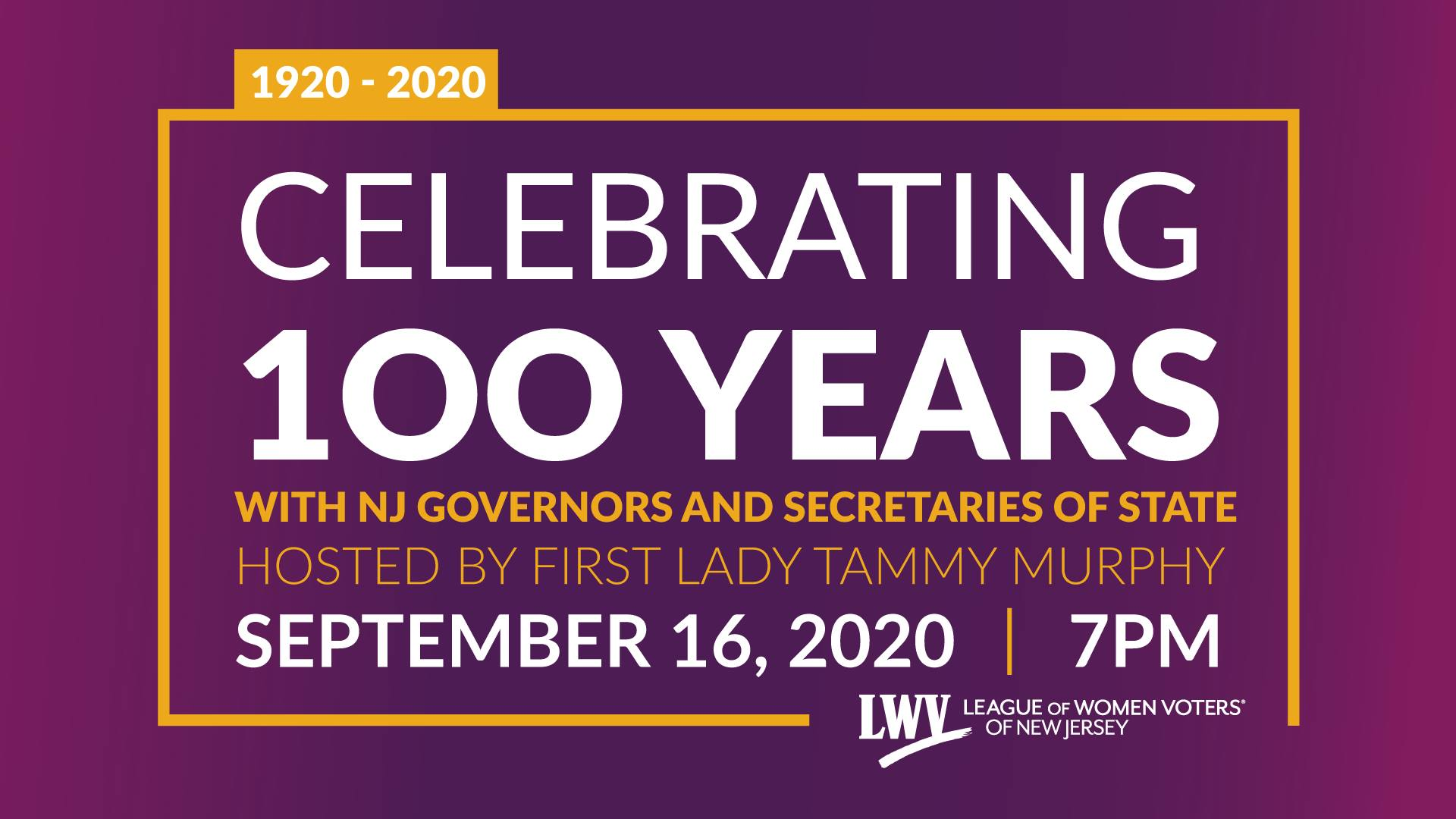 League of Women Voters of New Jersey Gala Invitation