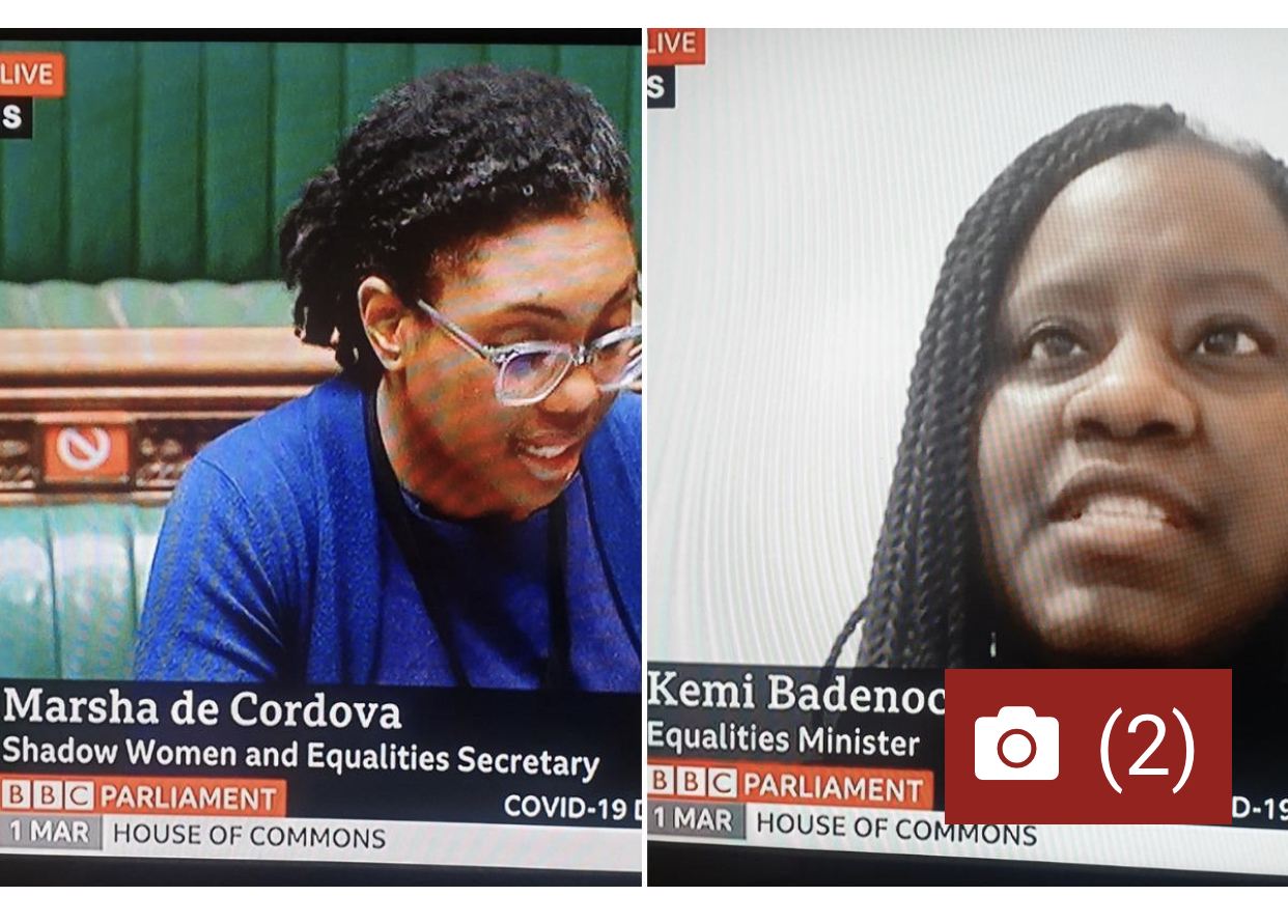 Misnamed black women MPs