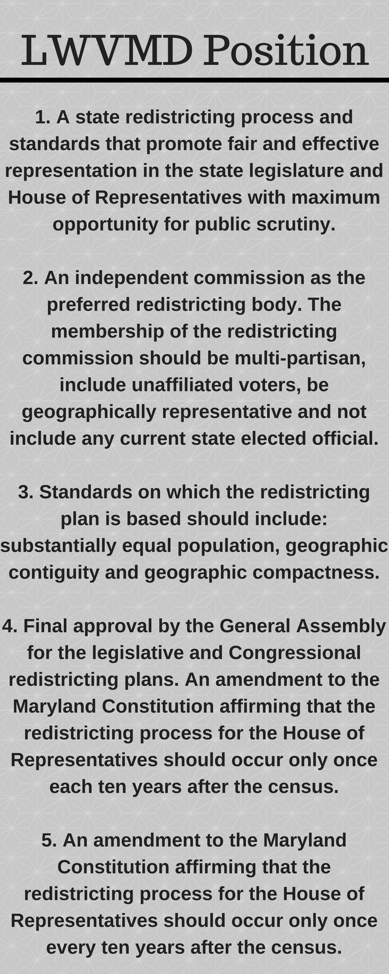 LWVMD Redistricting Position