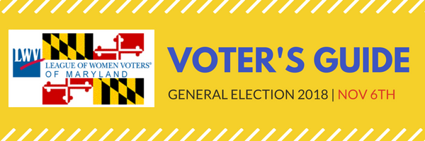 2018 Voters Guides Lwvmd