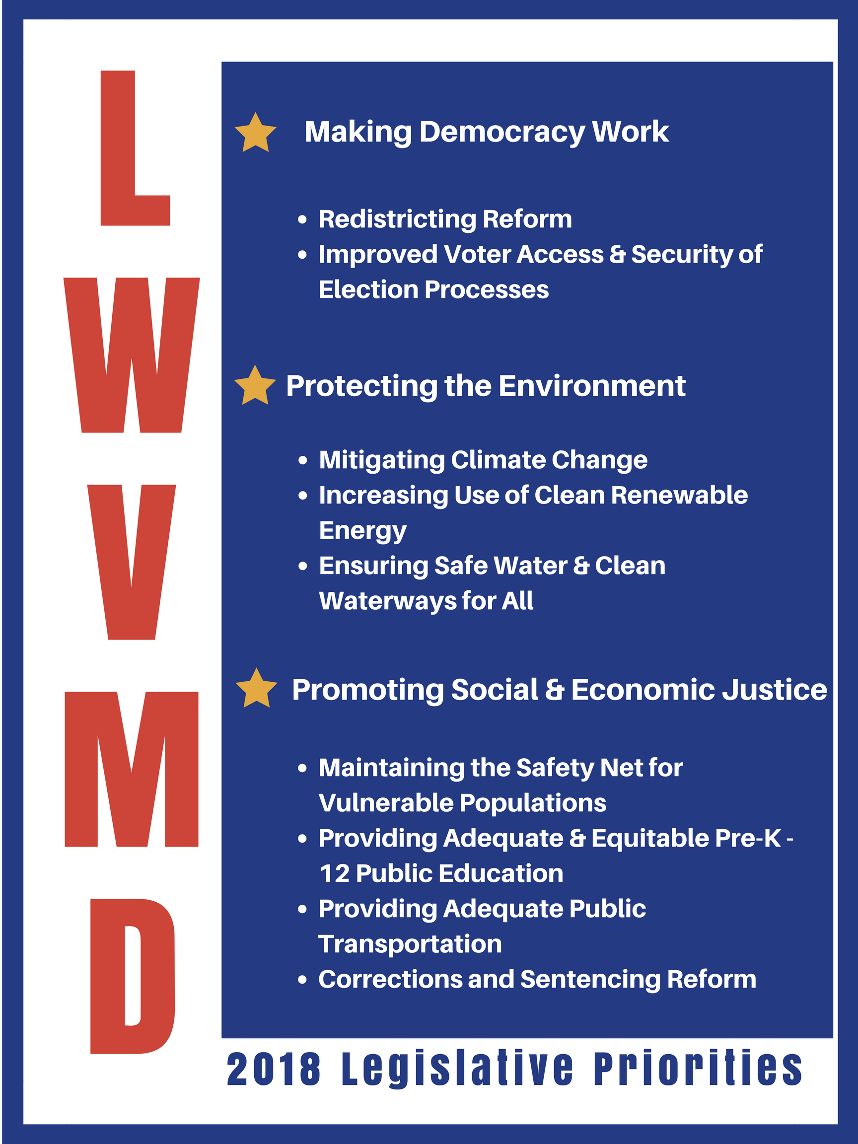 2018 Legislative Priorities