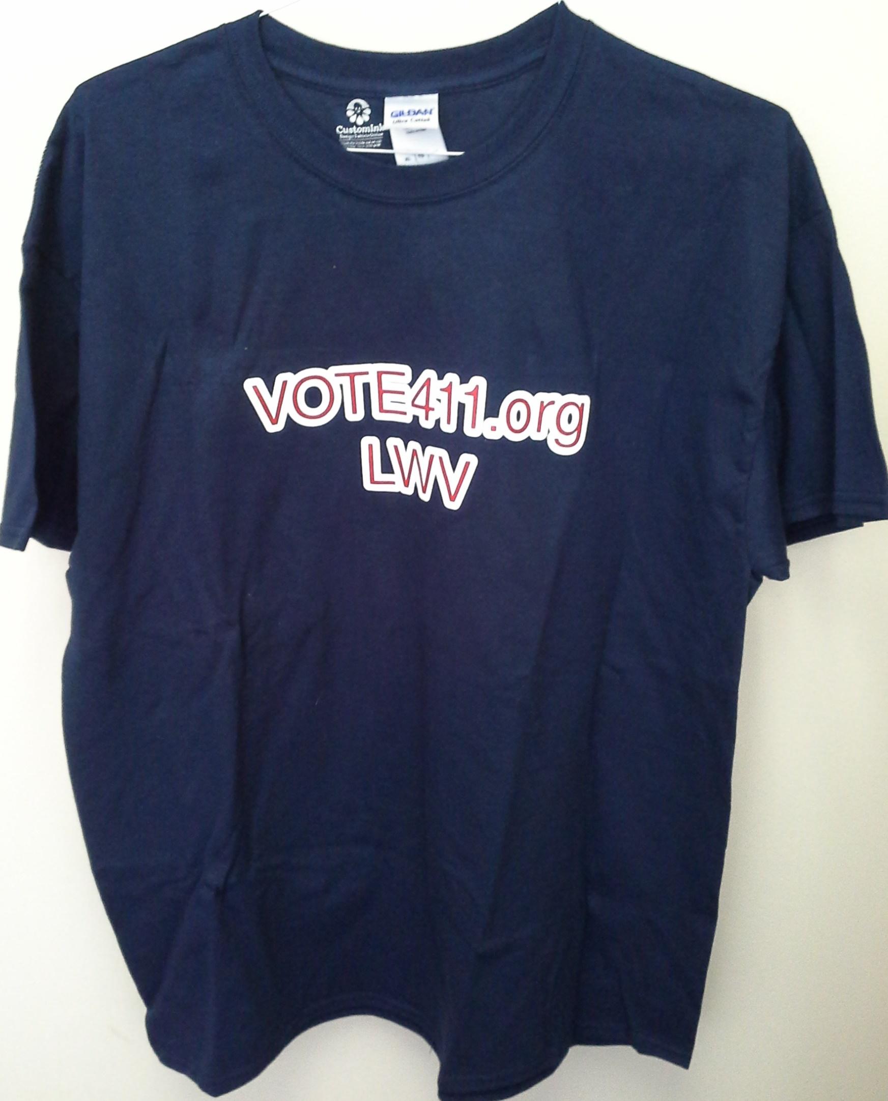 Vote 411 Navy Tee