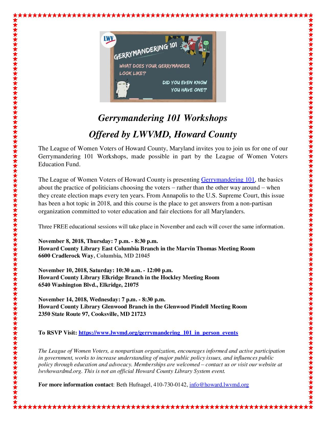Gerrymandering 101 Workshop