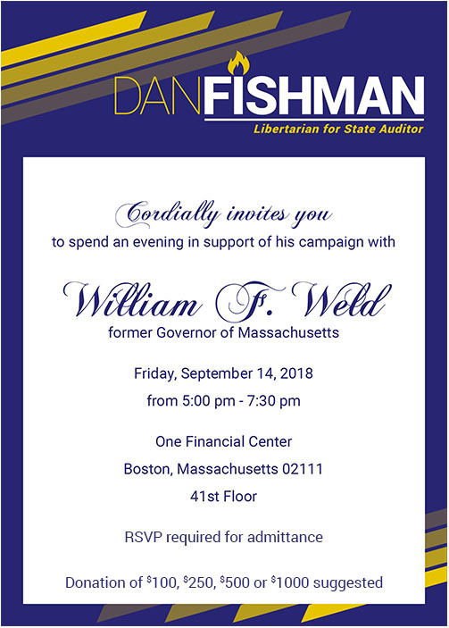 William Weld Invitation