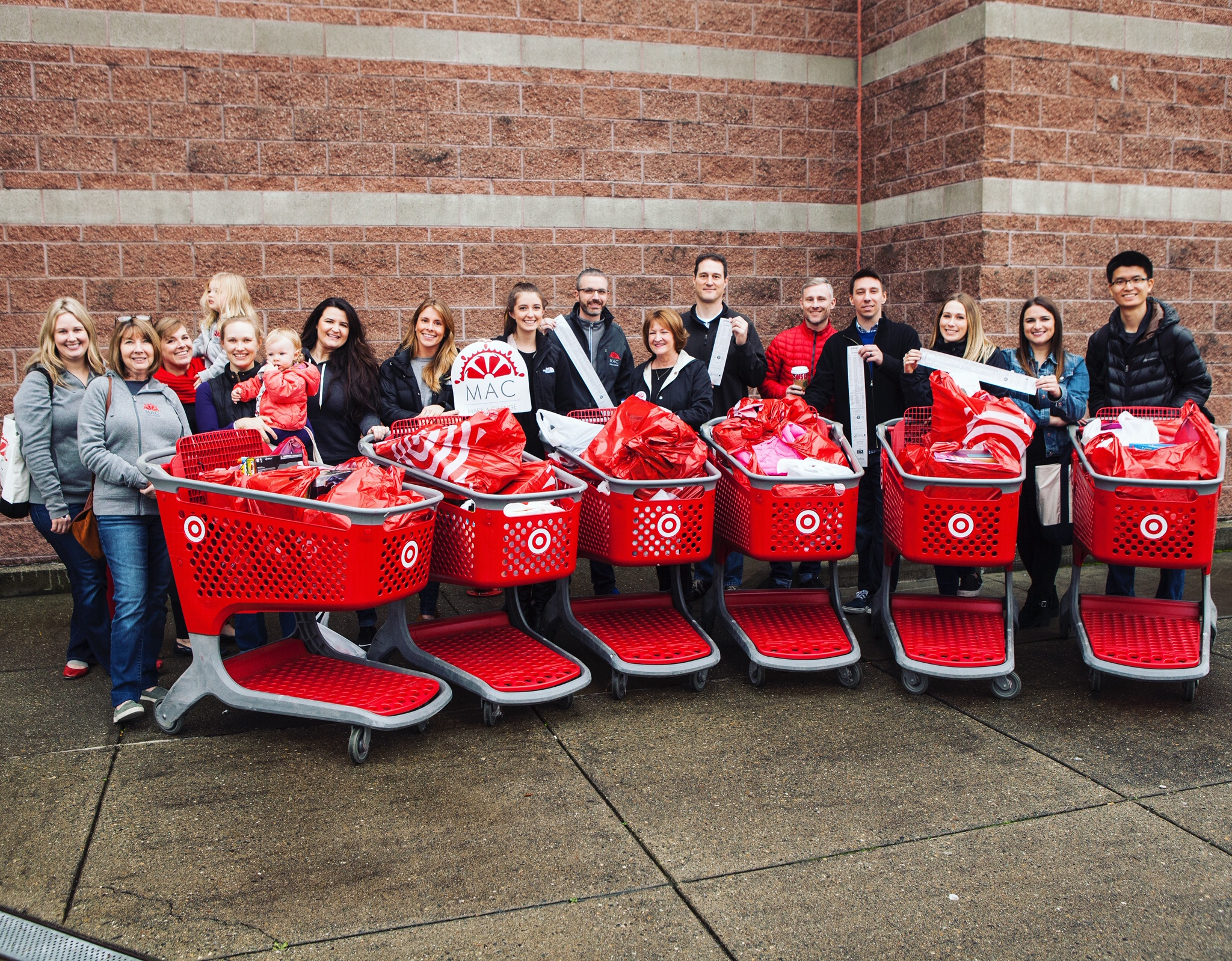 Make a Change Foundation NW (MAC Foundation) Target Shopping Trip - Charitable Giving Holiday Campaign