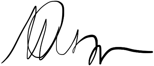 Scribbled name