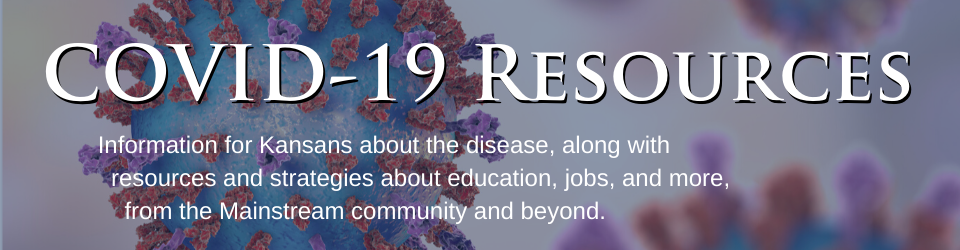 Banner referencing the COVID-19 Resource page from Mainstream