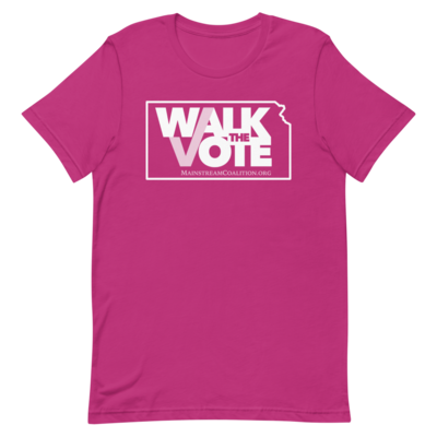 Example of the Walk the Vote shirt