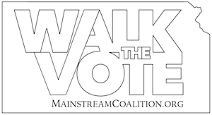 Walk the Vote logo in line art