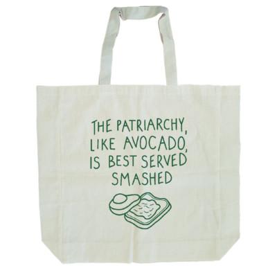 Tote bag patriarchy avocado