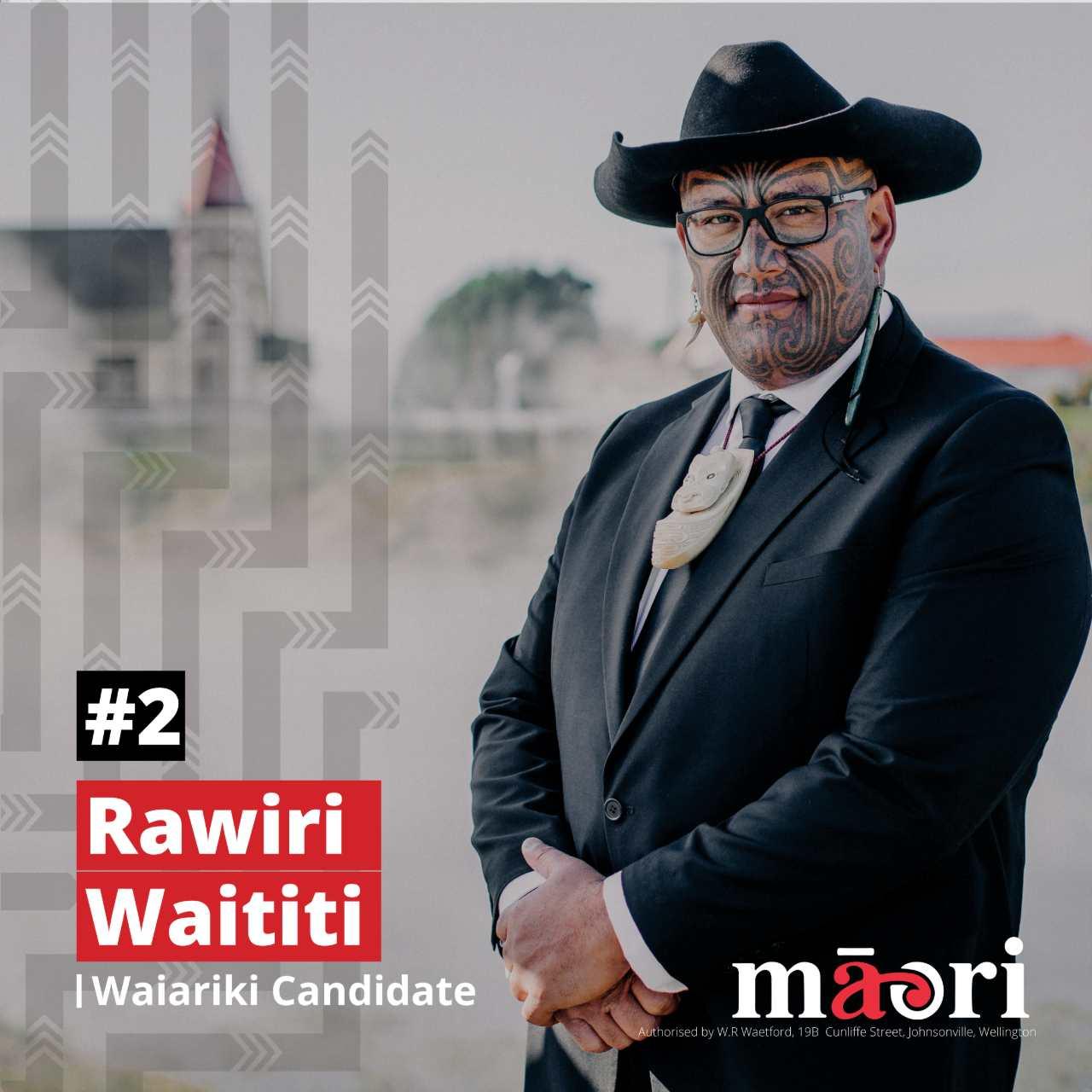 Rawiri Waititi, Waiariki Candidate