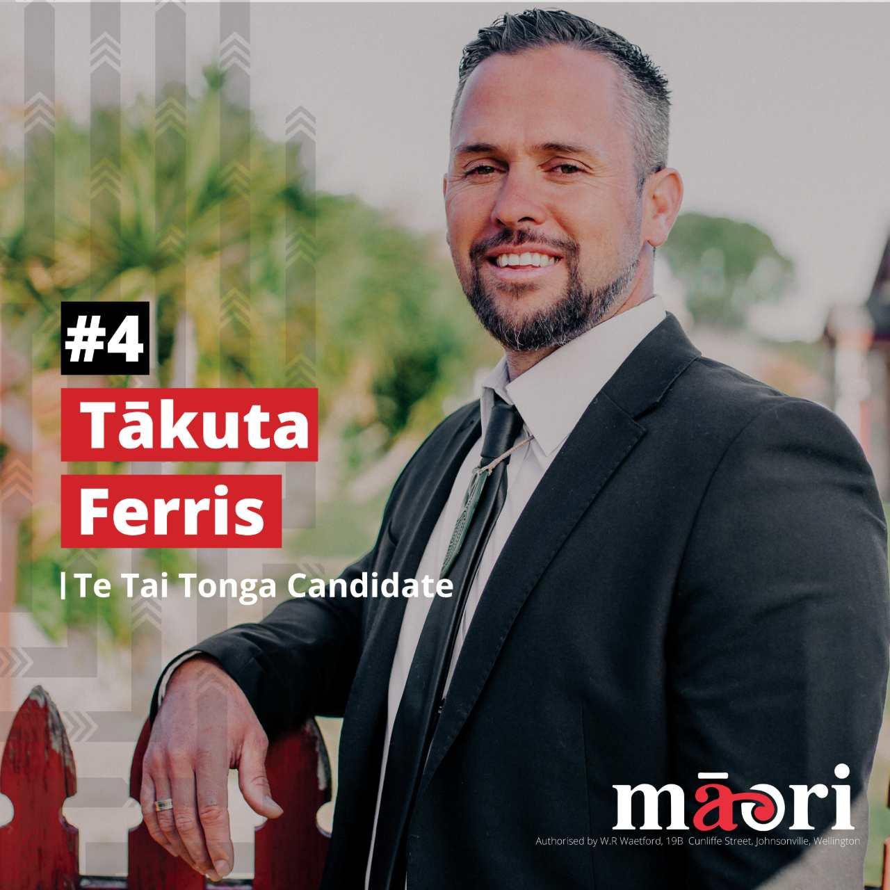 Tākuta Ferris, Te Tai Tonga Candidate