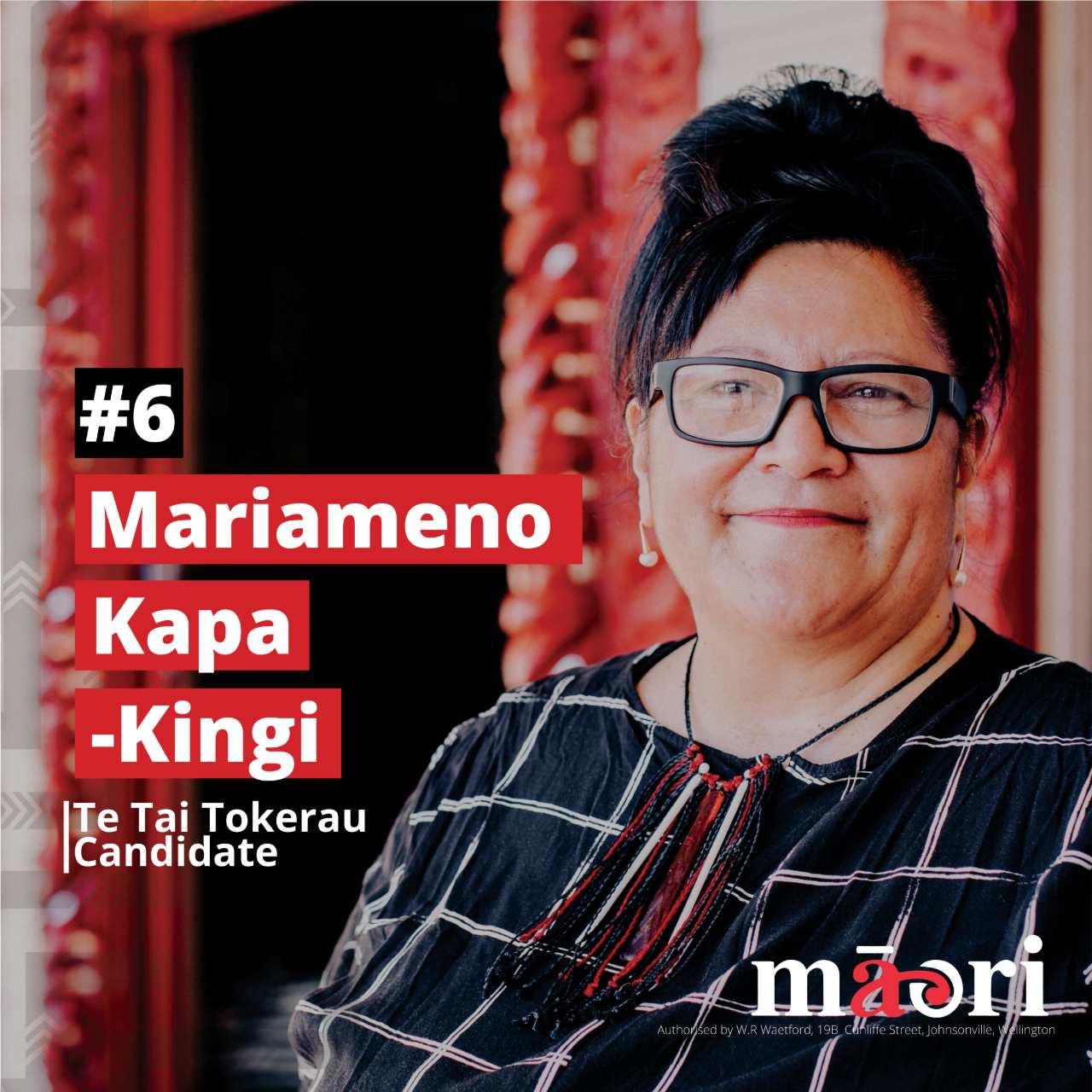 Mariameno Kapa-Kingi, Te Tai Tokerau Candidate