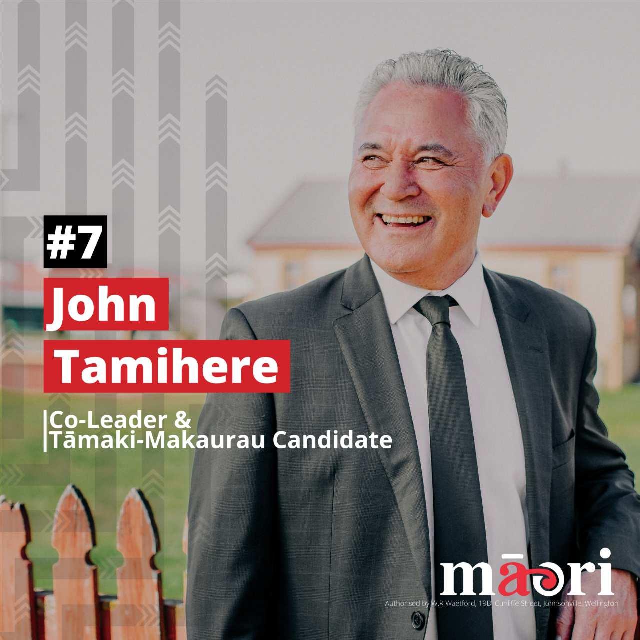 John Tamihere, Co-Leader, Tāmaki Makaurau Candidate