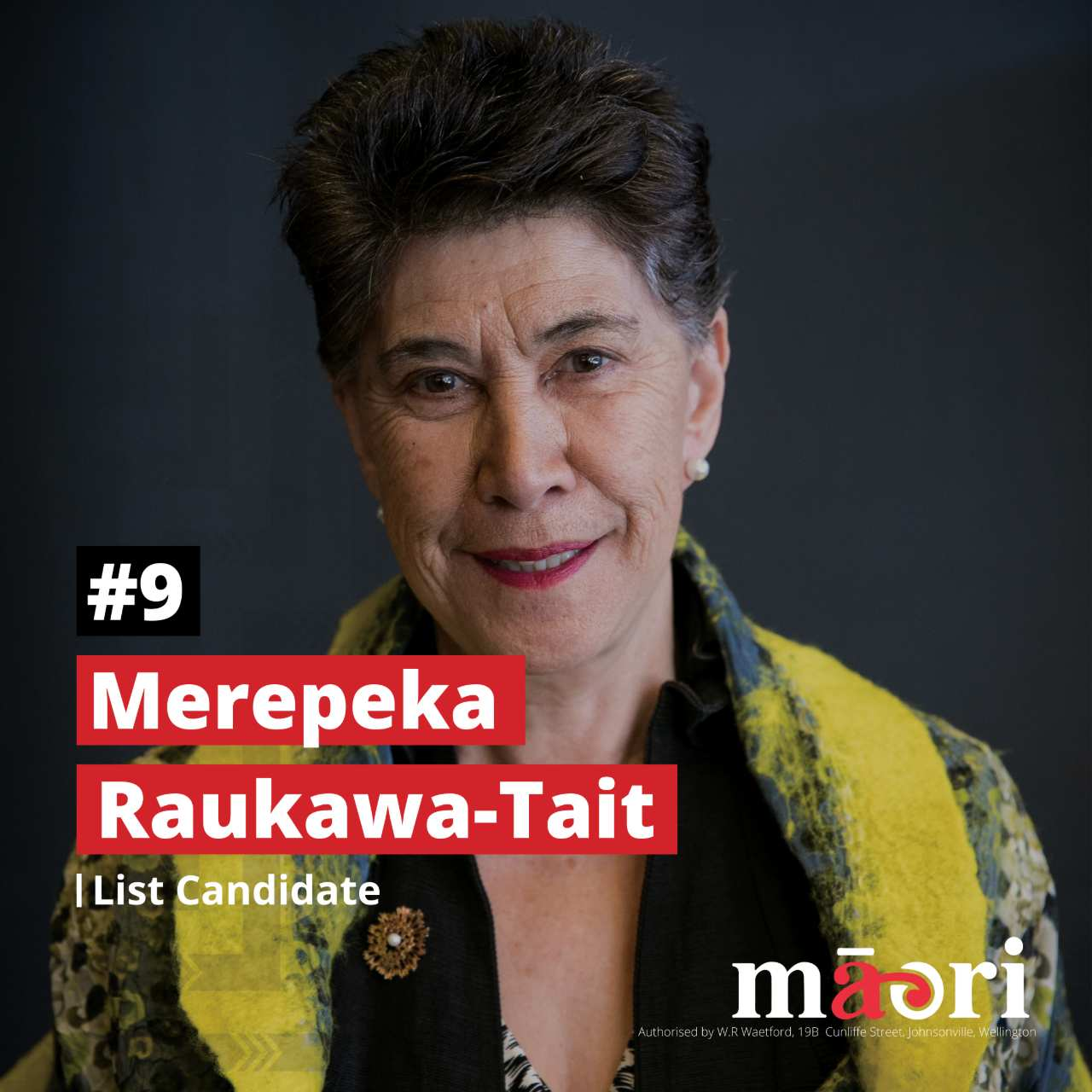 Merepeka Raukawa-Tait, List Candidate