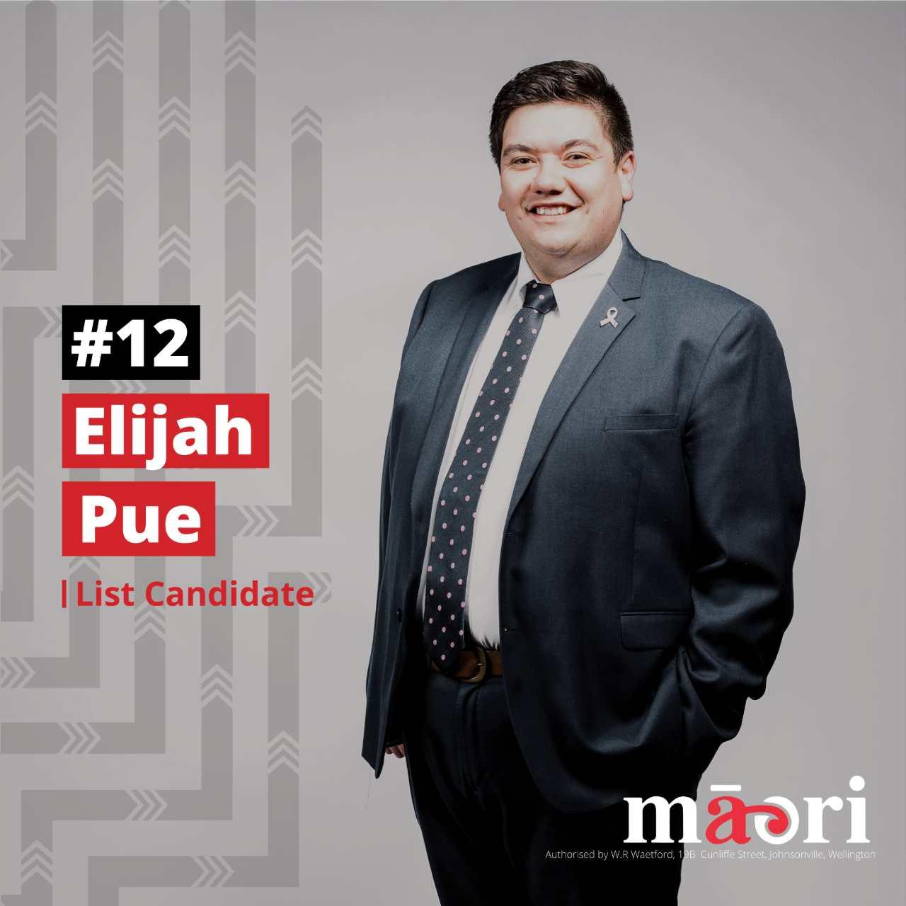 Elijah Pue, List Candidate
