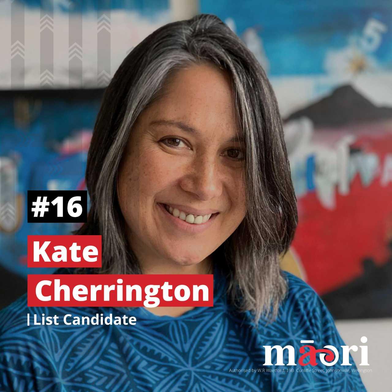 Kate Cherrington, List Candidate