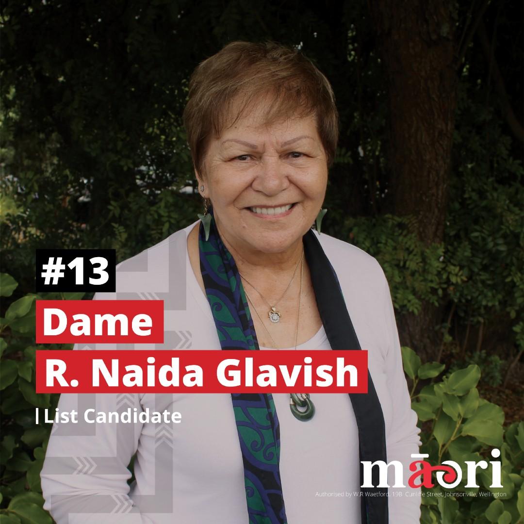 Dame R Naida Glavish, List Candidate