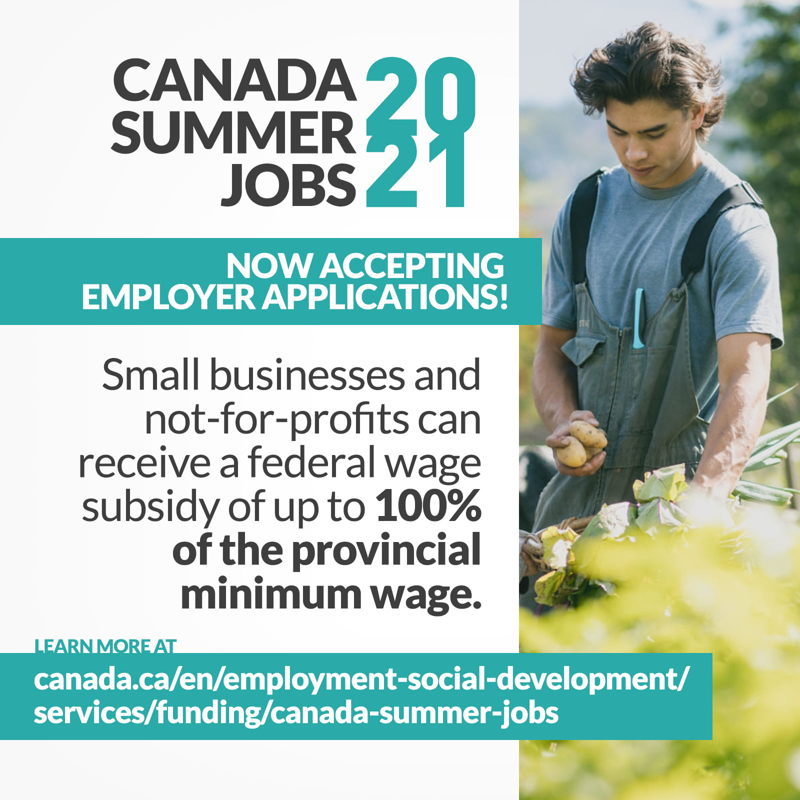 Now Accepting Employer Applications for the Canada Summer Jobs Program