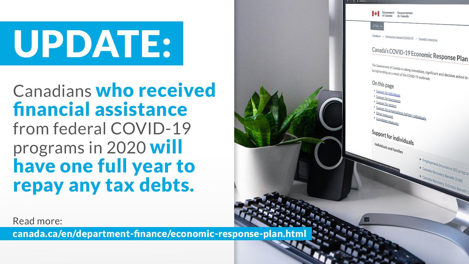 Update on Covid Tax Debts