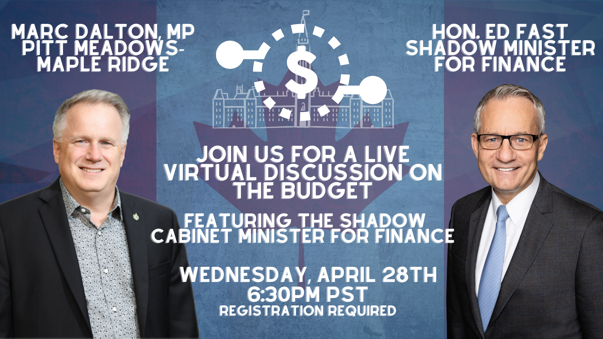 You're Invited!: Virtual Discussion on the Budget with Hon. Ed Fast