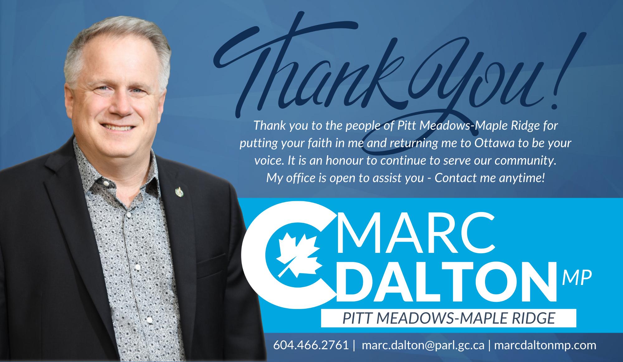 Thank you Pitt Meadows-Maple Ridge!