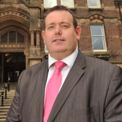 Leader of St Helens Council, Barrie Grunewald