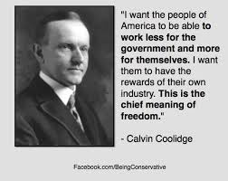 Coolidge on taxes