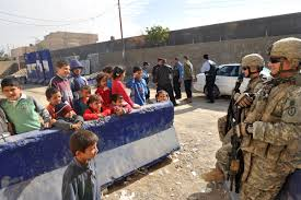 Children meet soldiers
