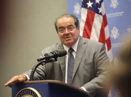 Justice Scalia at podium