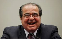 Justice Scalia laughs