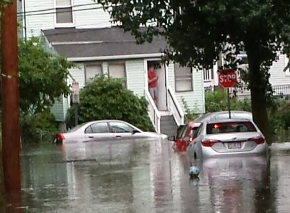 Flooding on Cedar Street