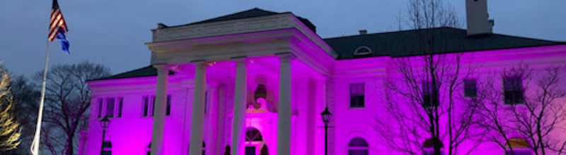 Wisconsin Executive Residence Goes Purple for Crime Victims