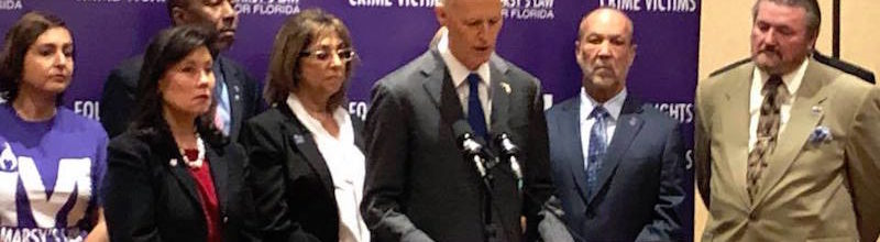 Governor Rick Scott Joins State Leaders and Victims' Rights Advocates in Support of Marsy's Law for Florida
