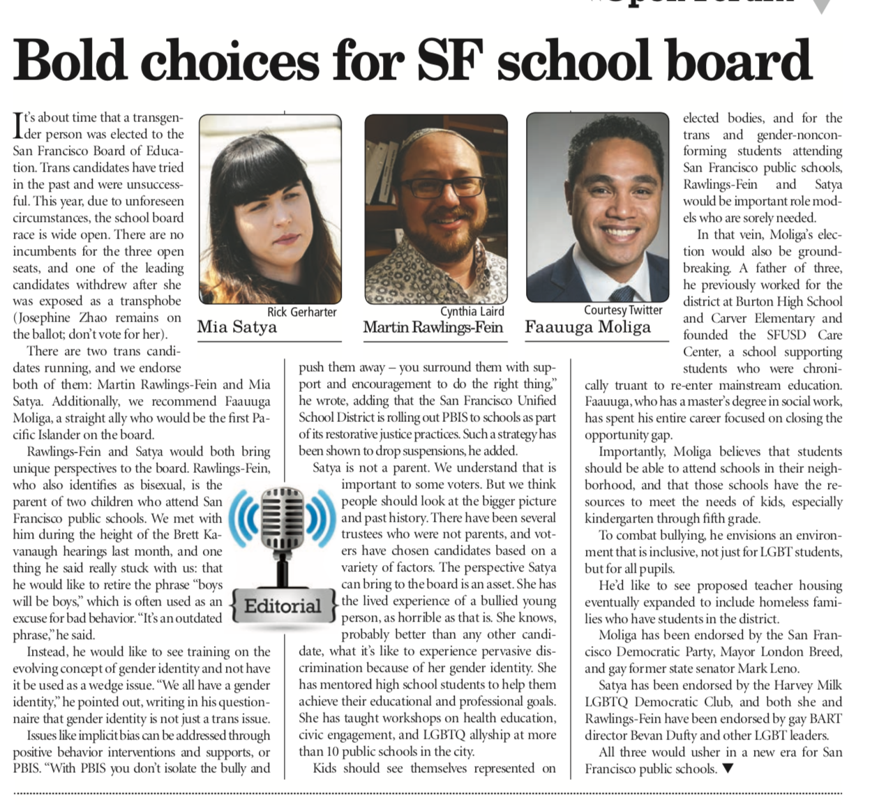 Editorial: Bold choices for SF school board